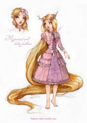 Rapunzel and lolita fashion by Moon-In-Milk