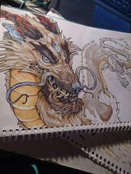 Milk dragon in process by HauRin