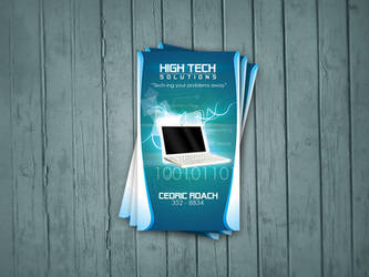 H-Tech Solutions Business Card by artofmarc