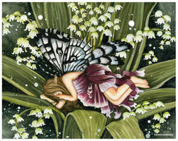 Slumbering Fae by Acorncupcake