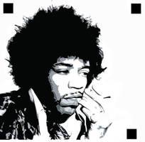 Jimi Hendrix Stencil by Ali187