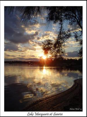Lake Macquarie at sunrise by w-o-l-d-o