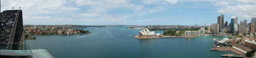 Pano Sydney Harbour by w-o-l-d-o