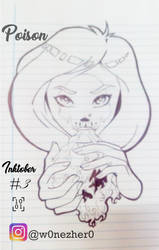 inktober number 3 Poison by Bonezkd