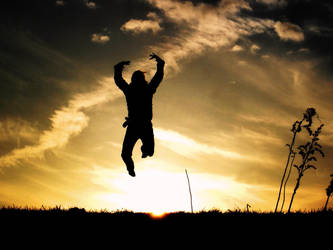 jumping over the sun. by FaSiRaMi