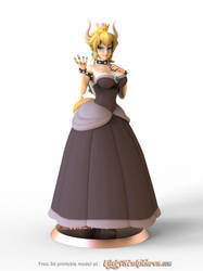 Bowsette - Free 3d printable model by bbmbbf