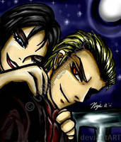 Ada and Wesker Freetime by Chibi-Goddess-Ny