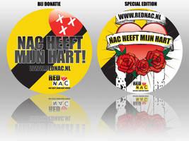 Sticker for Red NAC by DeGraafCreativity
