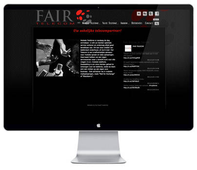 Fair Telecom website by DeGraafCreativity