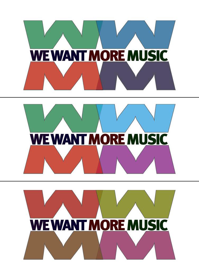 We Want More Music Logo by DeGraafCreativity