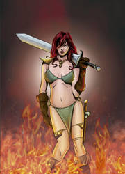Red Sonja Color by JAGRASSI