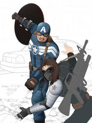 Capitain America the winter soldier_ incomplete by JAGRASSI