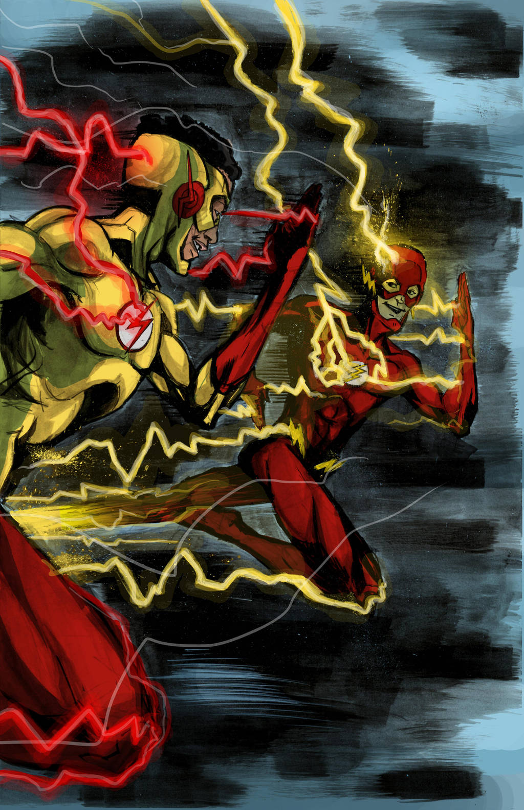 Flash and Kid Flash by amtaylor12