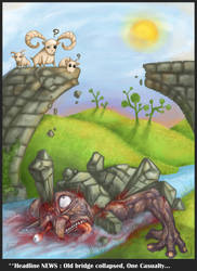 Troll Under the Bridge by polawat