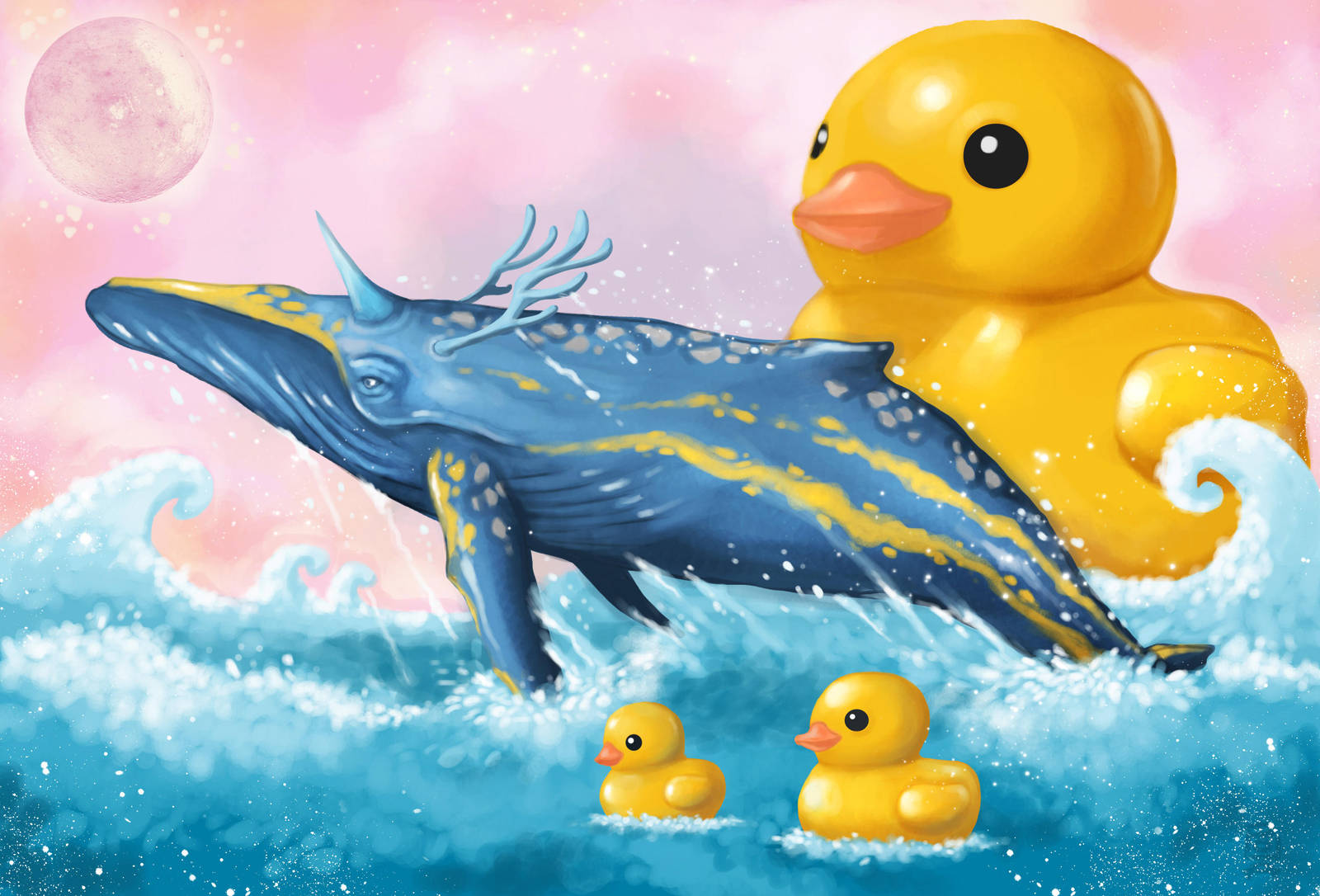 Whale and Duck by polawat