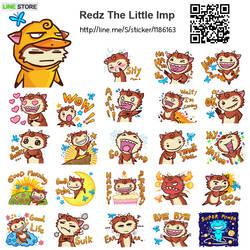 LINE sticker : Redz the Little Imp by polawat