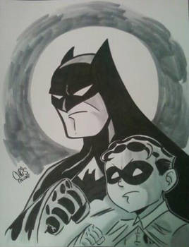 The Original Batman and Robin by wfbarton