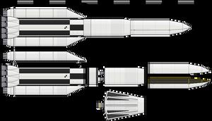 Heavy Lifter/Moon Rocket by Kerbal-Empire