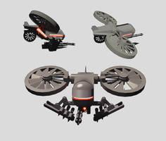 Aerial Hunter Killer UAV by orcbruto