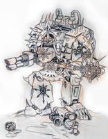 Crixus Khorne Contemptor by orcbruto