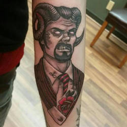 Demondude- tattoo version by MyHedHertz