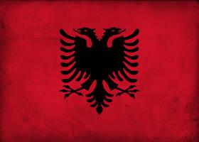 Grunge Flag of Albania by pnkrckr