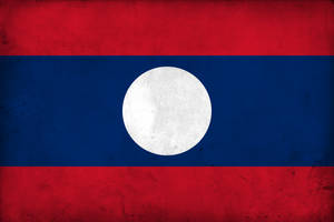Grunge Flag of Laos by pnkrckr
