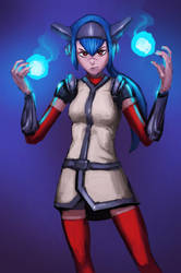 Lea from Crosscode by Indofrece