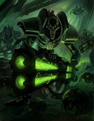 Necrons by Indofrece