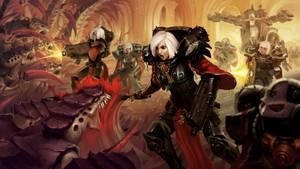 Battle Sisters vs Tyranids by Indofrece