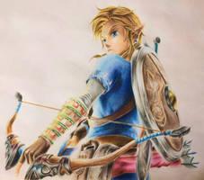 Link - The legend of Zelda Breath of the Wild by artistsstrive