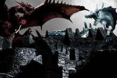 Dragon Battle by Dye-Evolve