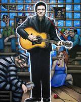 Johnny Cash by elastogirl