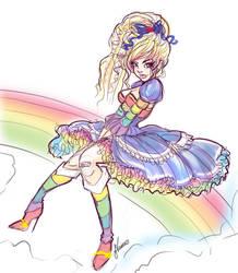 Cute Lolita Rainbow brite WIP by NoFlutter