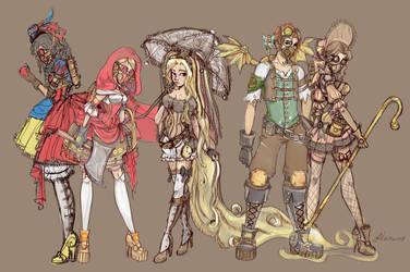 Steampunk Fairy Tale Group by NoFlutter