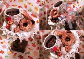 I Heart Coffee and Donuts by NoFlutter