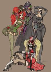 Alternate Victorian Villains by NoFlutter