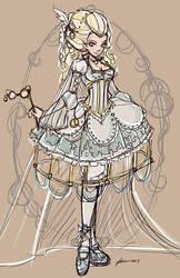 Rocopunk Cinderella Sketch by NoFlutter