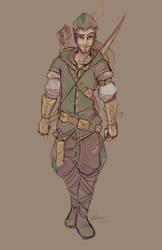 Robin Hood Sketch by NoFlutter