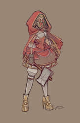 Red Riding Hood Updated sketch by NoFlutter