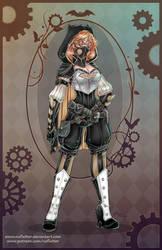 Steampunk Batgirl by NoFlutter