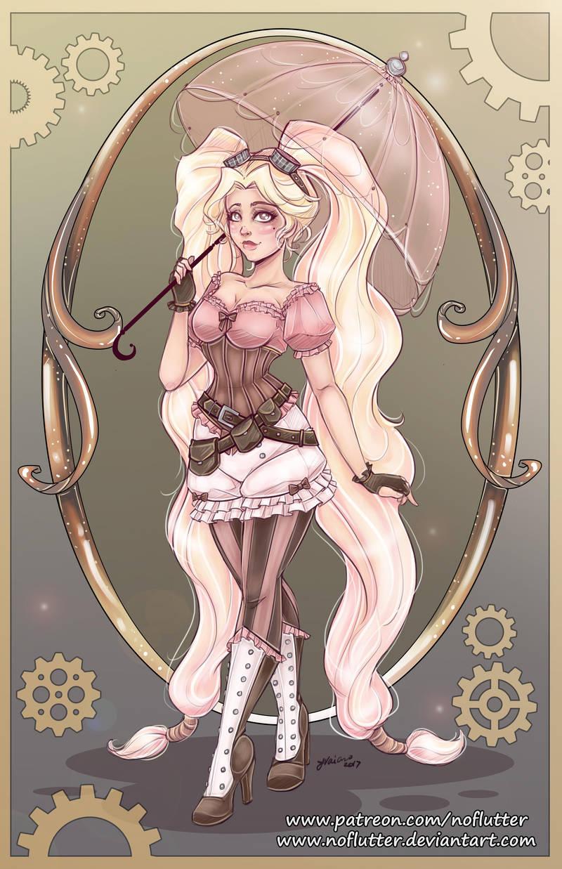 Steampunk Rapunzel by NoFlutter