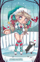 Cute Holiday Elf 2017 by NoFlutter