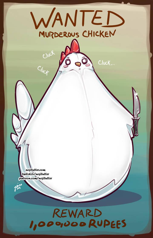 Wanted Murderous Chicken by NoFlutter