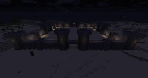 Castle Courtyard (Night Version) by 3xc4l1bur
