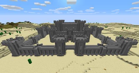 Castle Courtyard + Stone Castle (Day Mode) by 3xc4l1bur