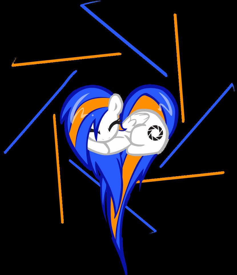 Aperture Pony OC Pony Heart by pyrestriker