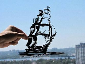 Ship Handmade Original Papercut by DreamPapercut