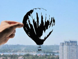 Air Balloon Handmade Original Papercut by DreamPapercut