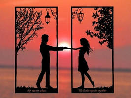 Boundless Love Handmade Original Papercut by DreamPapercut